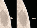 Saturn occultation with the Moon image: http://apod.nasa.gov/apod/image/0202/occsat_martinez_full.jpg